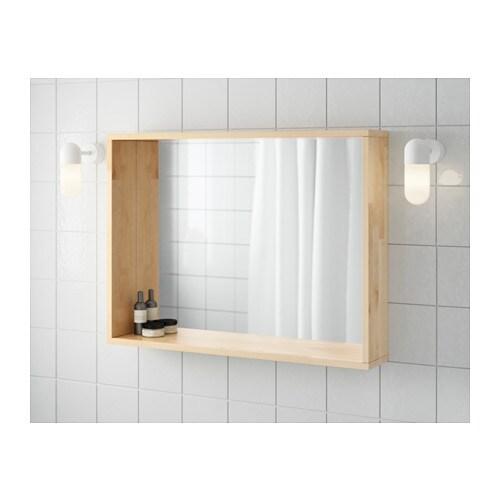molger spiegel - berken - ikea, Badkamer
