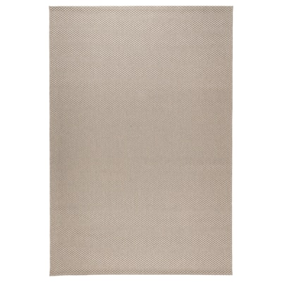 MORUM Vloerkleed glad geweven, bin/buit, beige, 160x230 cm