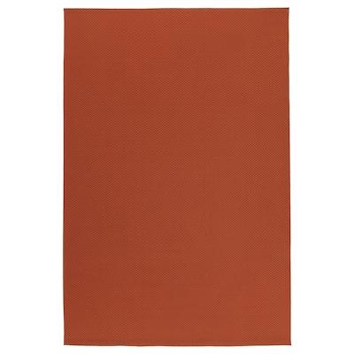 MORUM Vloerkleed glad geweven, bin/buit, roestbruin, 160x230 cm