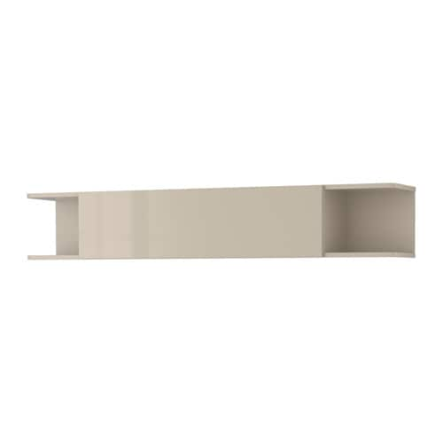 Zwevende Wandkast Ikea.Mostorp Plank Wandkast Hoogglans Beige Ikea