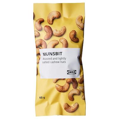 MUNSBIT Geroosterde cashewnoten, licht gezouten, 60 g