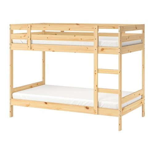 3 Persoons Stapelbed Hout.Mydal Frame Stapelbed Ikea