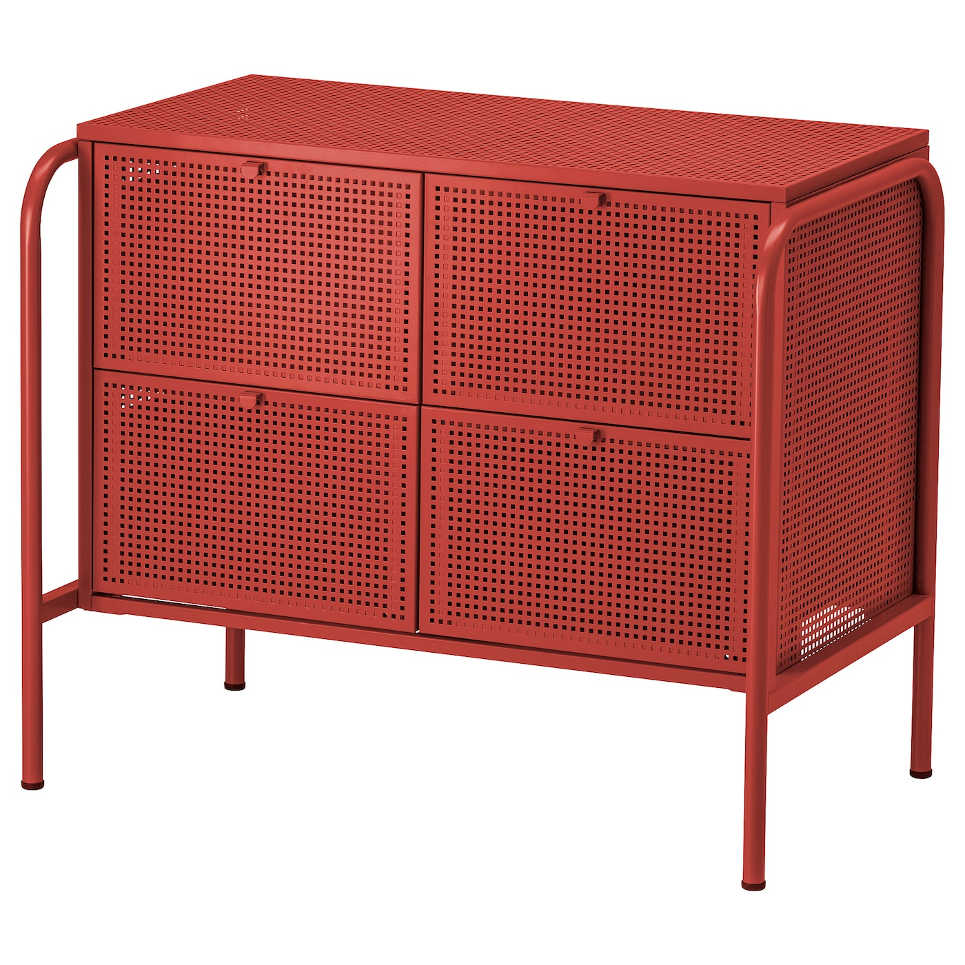 IKEA - NIKKEBY Ladekast met 4 lades - 84x70 cm - Rood
