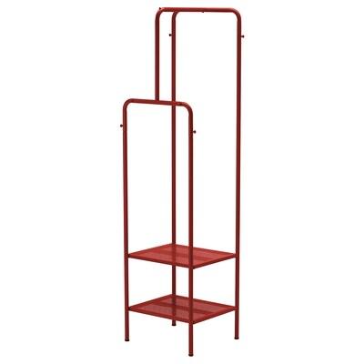NIKKEBY kledingrek rood 45 cm 40 cm 170 cm