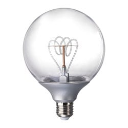 NITTIO Led-lamp E27, globe zilverkleur
