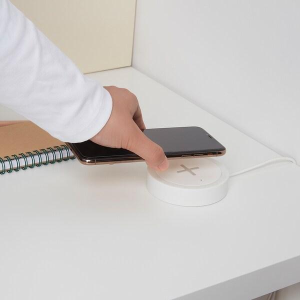 NORDMÄRKE draadloze oplader wit/silicone 2 cm 8.5 cm 1.80 m