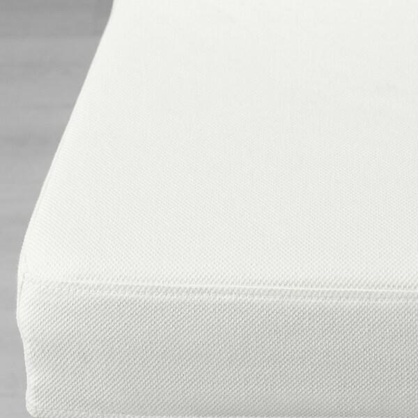 NORDVIKEN / HENRIKSDAL tafel en 4 stoelen zwart/Blekinge wit 152 cm 223 cm 95 cm