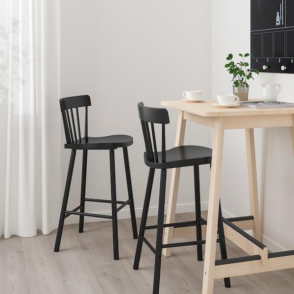 Onwijs NORRÅKER / NORRARYD Bartafel en 2 barkrukken, berken, zwart - IKEA IE-33