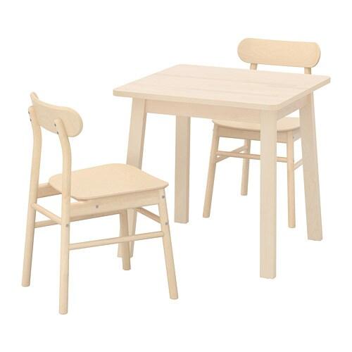 Ikea Houten Keukenstoelen.Norraker Ronninge Tafel Met 2 Stoelen Ikea
