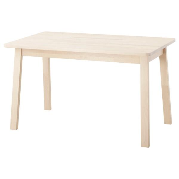 NORRÅKER tafel berken 125 cm 74 cm 74 cm