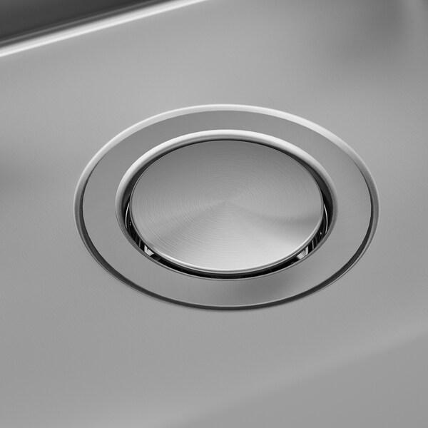 NORRSJÖN Inbouwspoelbak, 1 bak, roestvrij staal, 37x44 cm