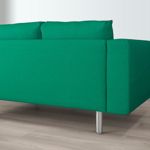 NORSBORG 4-zitsbank, met chaise longue/Edum heldergroen/metaal