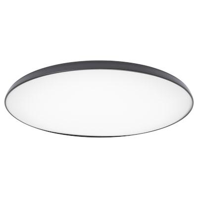 NYMÅNE led-plafondlamp antraciet 28 W 8 cm 45 cm