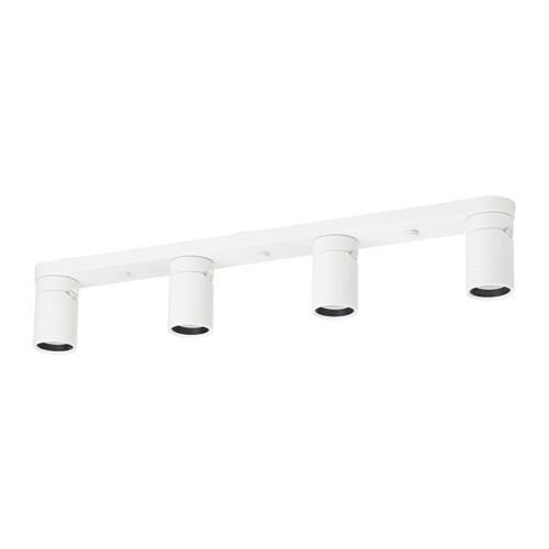 NYMÅNE Plafondspot met 4 spots, wit