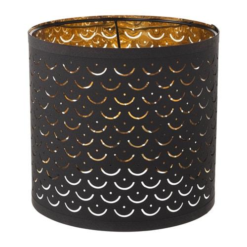 NYMÖ Lampenkap, zwart, messingkleur zwart/messingkleur 24 cm