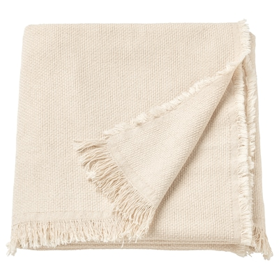 ODDRUN Plaid, naturel/beige, 130x170 cm