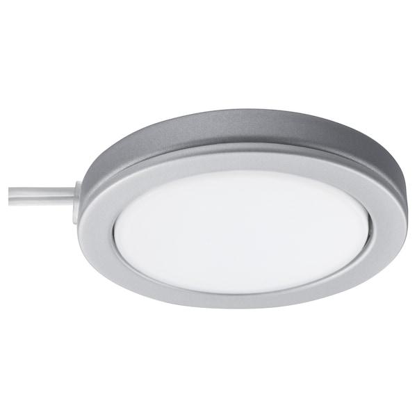 OMLOPP Led-spot, aluminiumkleur, 6.8 cm