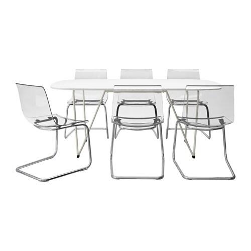 OPPEBY/BACKARYD / TOBIAS Tafel met 6 stoelen IKEA Het glanzende ...