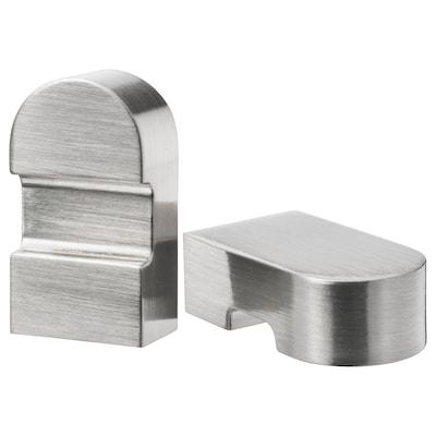 ORRNÄS Knop, roestvrij staalkleur, 17 mm