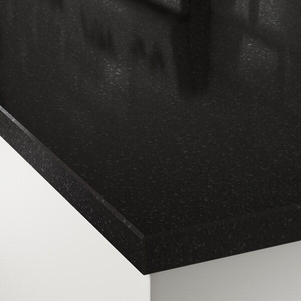OXSTEN Maatwerkblad, antraciet steenpatroon/kwarts, 45.1-63.5x3.8 cm