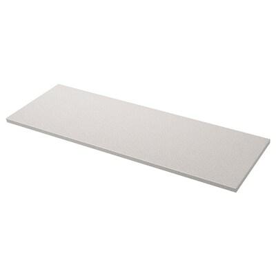 OXSTEN Maatwerkblad, lichtgrijs steenpatroon/kwarts, 45.1-63.5x3.8 cm