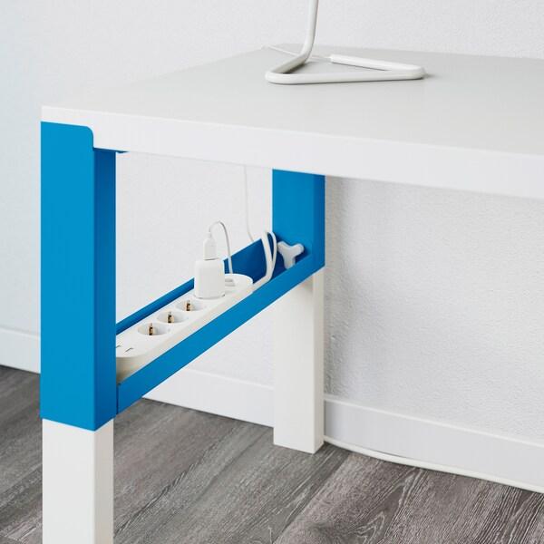PÅHL Bureau, wit/blauw, 96x58 cm