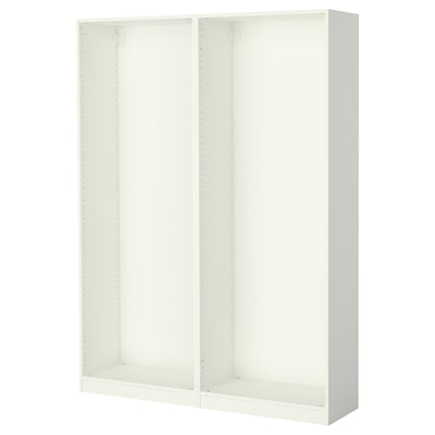 PAX 2 basiselementen kledingkast, wit, 150x35x201 cm