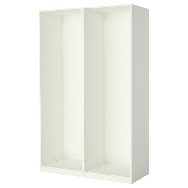 PAX 2 basiselementen kledingkast, wit, 150x58x236 cm