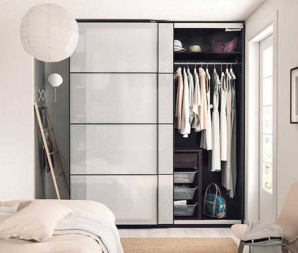 PAX 2 basiselementen kledingkast, zwartbruin, 150x58x236 cm
