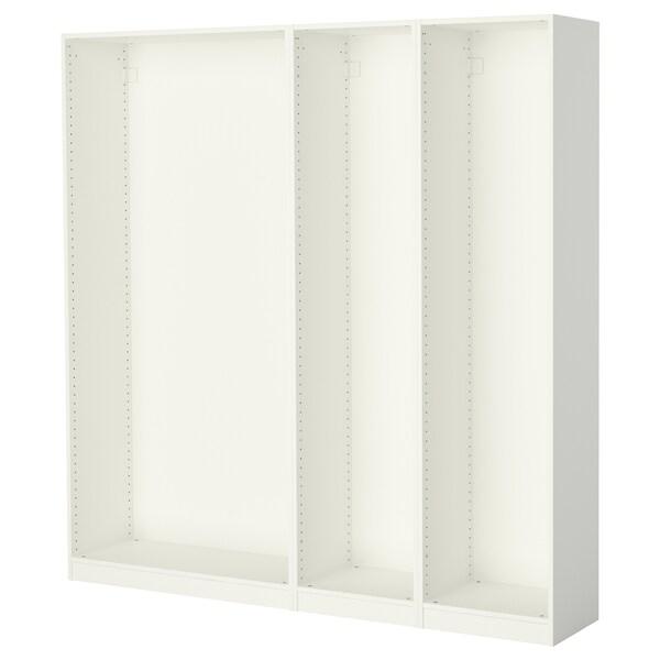PAX 3 basiselementen kledingkast, wit, 200x35x201 cm