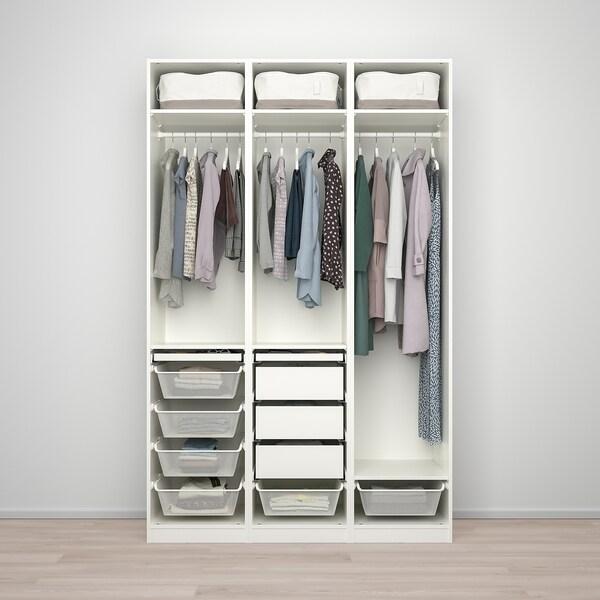 PAX / FARDAL kledingkastcombinatie wit/hoogglans lichtgrijs 150.0 cm 60.0 cm 236.4 cm