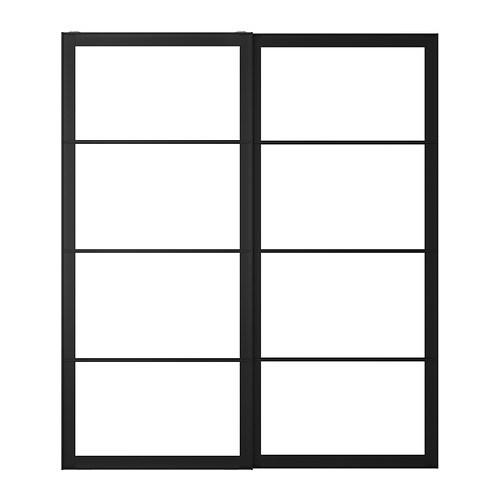 pax frame voor schuifdeurpaar met rail 200x236 cm ikea. Black Bedroom Furniture Sets. Home Design Ideas