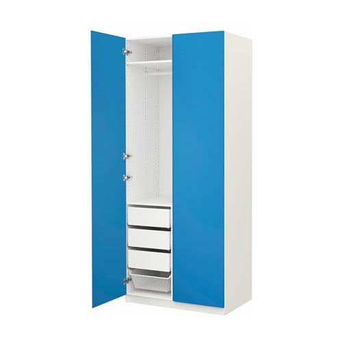 pax garderobekast 100x60x236 cm standaardscharnier ikea. Black Bedroom Furniture Sets. Home Design Ideas