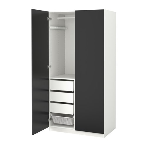 PAX Garderobekast   100x60x201 cm, zachtsluitende scharnier   IKEA