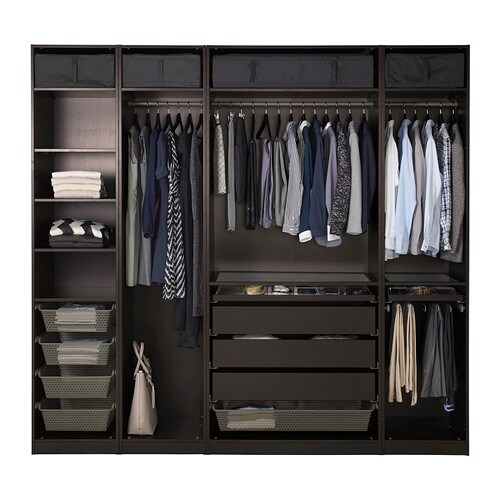 pax garderobekast 250x58x236 cm ikea. Black Bedroom Furniture Sets. Home Design Ideas