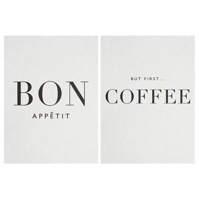 PJÄTTERYD Afbeelding zonder lijst, Bon appétit, 28x38 cm