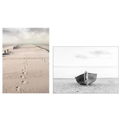 PJÄTTERYD Afbeelding zonder lijst, Strand fotografie, 50x70 cm