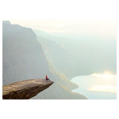 PJÄTTERYD Afbeelding zonder lijst, Trolltunga, Noorwegen, 100x70 cm