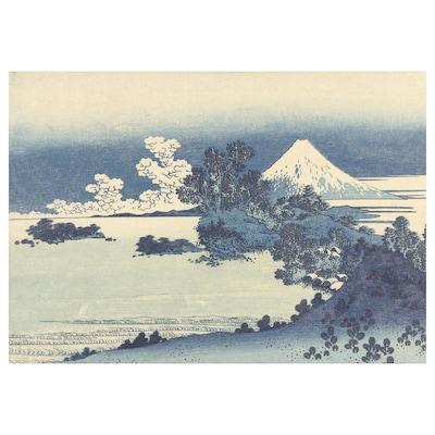 PJÄTTERYD Afbeelding zonder lijst, Uitzicht op Mount Fuji, 100x70 cm