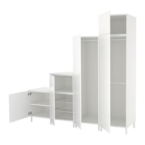 Witte Lage Kast.Lage Hangkast Ikea