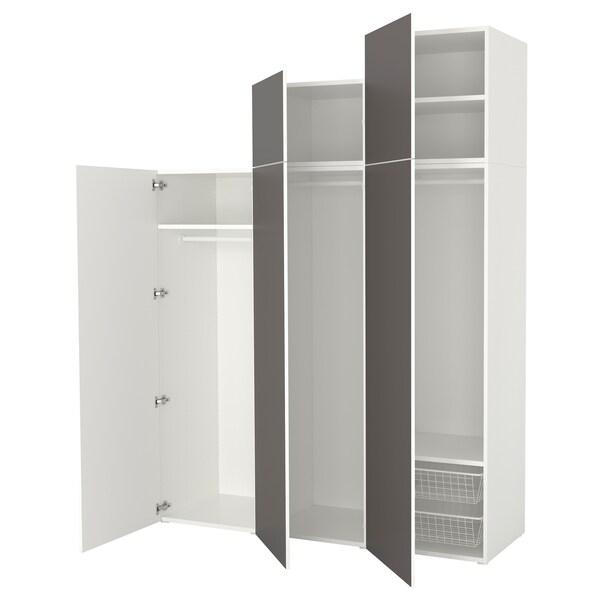 Beste PLATSA Kledingkast, wit, Skatval donkergrijs. Lees meer - IKEA WX-74