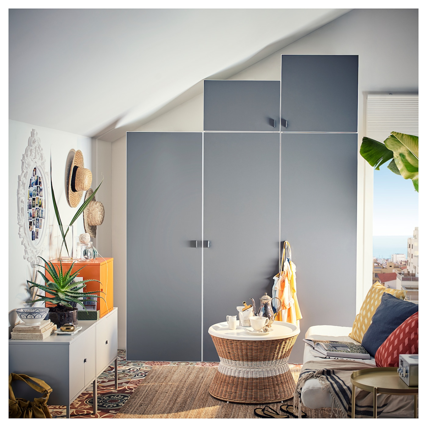 Ongebruikt PLATSA Kledingkast, wit, Skatval donkergrijs. Lees meer - IKEA HZ-41