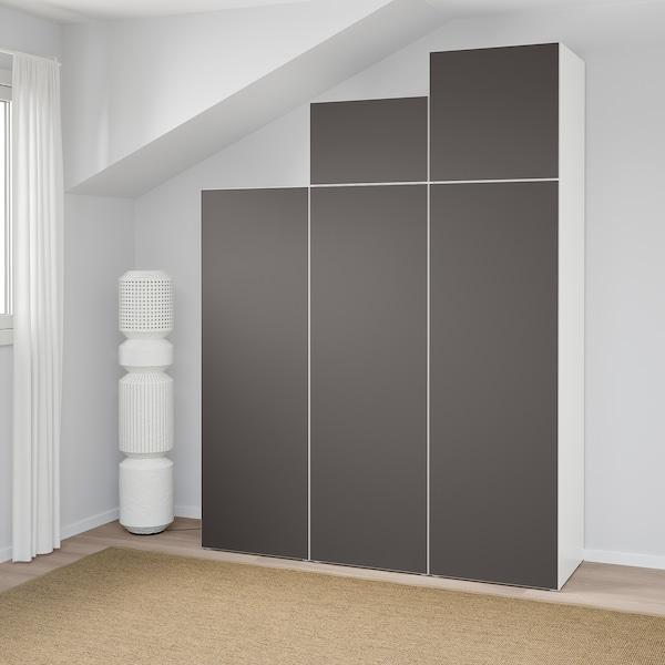 Nieuw PLATSA Kledingkast, wit, Skatval donkergrijs. Lees meer - IKEA MV-31
