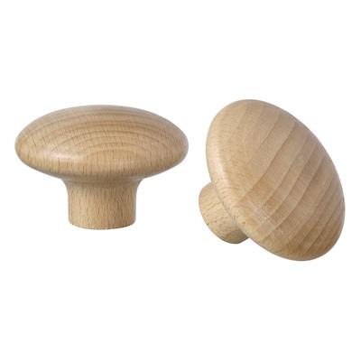 PLOCKAR Knop, hout, 49 mm