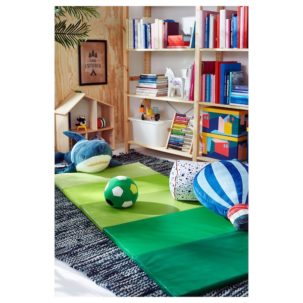 PLUFSIG Gymnastiekmat, opvouwbaar, groen, 78x185 cm