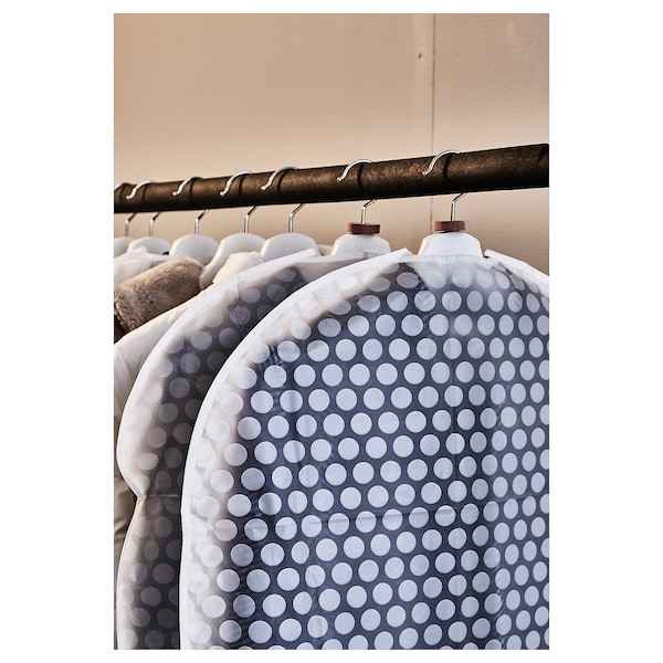 PLURING kledinghoes set van 3 transparant wit