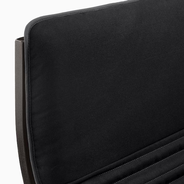 POÄNG Fauteuil, zwartbruin/Knisa zwart
