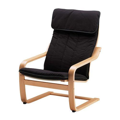Po ng fauteuil alme zwart beukenfineer ikea - Comfortabele fauteuils ...
