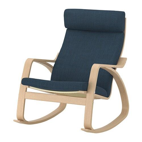 Kussen Voor Schommelstoel.Poang Schommelstoel Hillared Donkerblauw Ikea