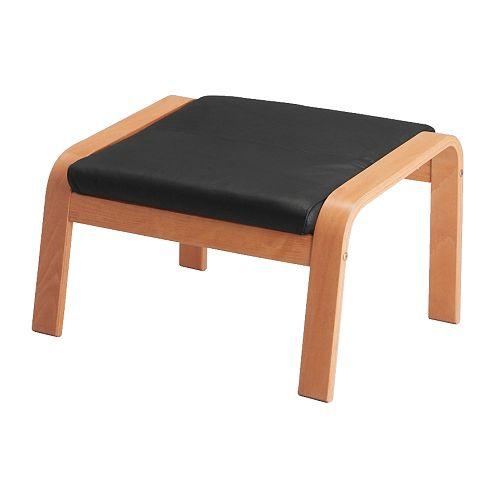 po ng voetenbank smidig zwart ikea. Black Bedroom Furniture Sets. Home Design Ideas